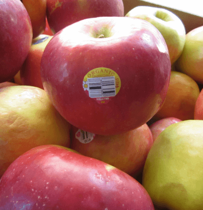 An organic apple